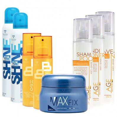 36 Max Fix + Kit Age Revitalize + 2 Shine Flash + 2 Full BB Cream Light