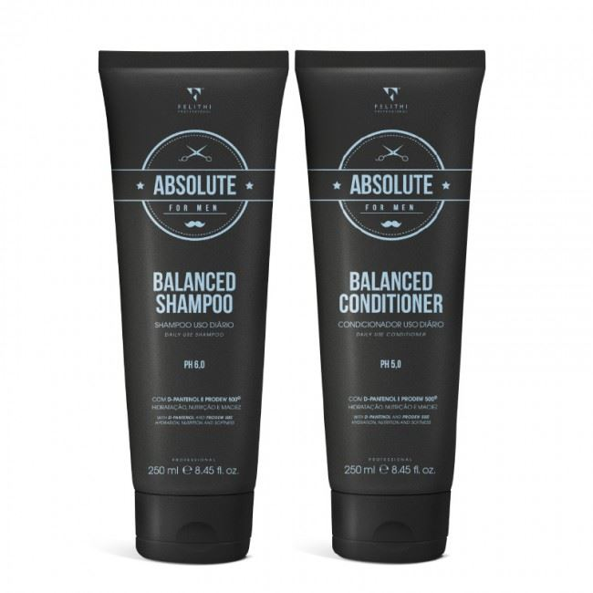 Kit Duo Absolute for Men - Balanced Shampoo e Conditioner - 250 ml