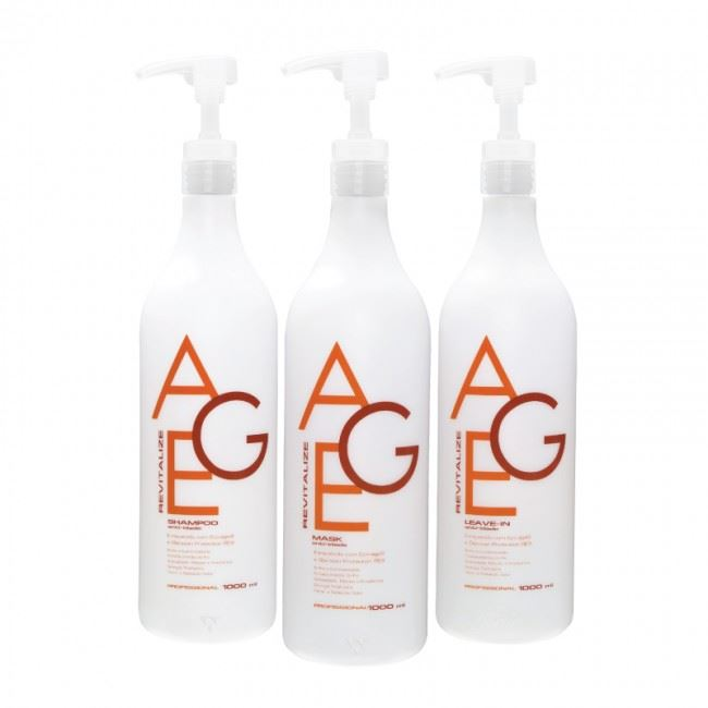 Kit Age Revitalize (Shampoo + Leave-in + Mask 1000ml)